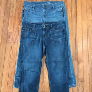 New York and Company cropped jeans